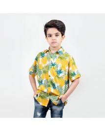 شومیز آستین کوتاه اسپرت پسرانه Farhad طرح هاوایی (آناناس) چند رنگ